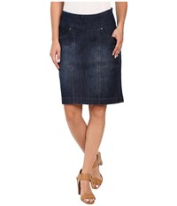 Jag Jeans Janelle Pull On Skirt Comfort Denim In Blue Shadow Blue Shadow Women's Skirt