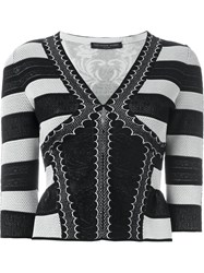 Alexander Mcqueen Victorian Lace Knit Cardigan Black