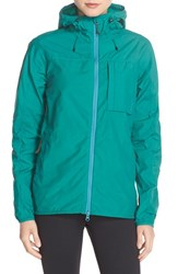 Fjall Raven Women's Fj Llr Ven 'High Coast' Hooded Windbreaker Copper Green