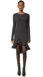 Giambattista Valli Long Sleeve Dress Charcoal