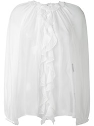 Dolce And Gabbana Ruffle Blouse White