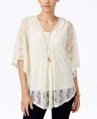 Styleandco. Style And Co. Lace Poncho Top Only At Macy's Vintage Cream