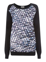 Mary Portas Silk Blend Printed Jumper Midnight