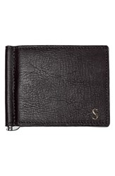 Cathy's Concepts Personalized Leather Wallet And Money Clip Grey