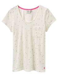 Joules Anna Jersey Star Pyjama Top Cream