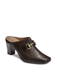 Aerosoles Montana Mules Dark Brown