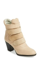 Plomo 'Ivy' Leather Ankle Boot Women Beige