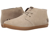 Fred Perry Byron Mid Suede Sand Dark Chocolate Men's Lace Up Casual Shoes Tan