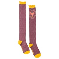 Powder Long Fox Socks Plum