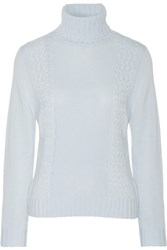 Madeleine Thompson Jack Cashmere And Wool Blend Turtleneck Sweater Blue