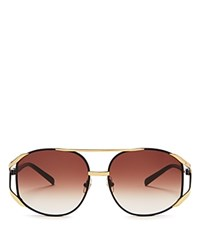 Wildfox Couture Dynasty Aviator Sunglasses 64Mm Gold Brown Gradient