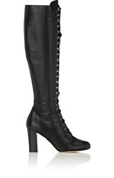 Philosophy Di Lorenzo Serafini Women's Leather Lace Up Knee Boots Black