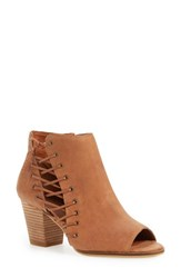 Lucky Brand Women's 'Hartlee' Open Toe Bootie 2 1 2 Heel