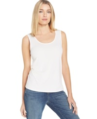 Eileen Fisher Silk Scoop Neck Tank Top White