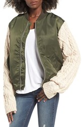 J.O.A. Women's Bomber Jacket
