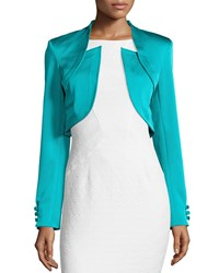 Zac Posen Antonella Fitted Cropped Jacket Ace Blue