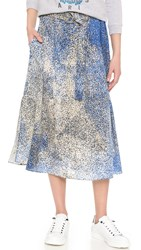 Kenzo Sand Silk Skirt Royal Blue