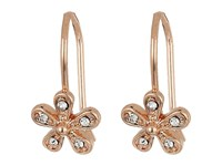 Lauren Ralph Lauren Small Flower Drop Earrings Crystal Rose Gold Earring