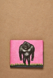 Forever 21 Dynomighty Gorilla Mighty Wallet Pink Black