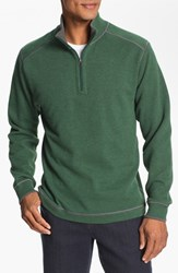 Men's Cutter And Buck Regular Fit Quarter Zip Sweater Hunter