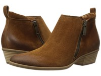 Paul Green Jillian Bootie Cognac Suede Women's Boots Brown