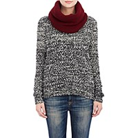 The Elder Statesman Women's Itsa Neck Warmer Burgundy