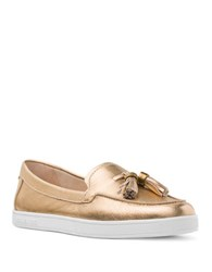 Michael Michael Kors Callhan Penny Keeper Leather Loafers Pale Gold