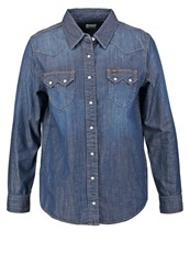 Lee Regular Western Shirt Crushed Blue Dark Blue Denim