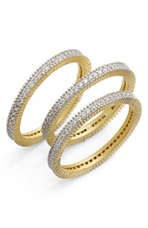 Women's Freida Rothman 'Classic Pave' Stacking Rings Set Of 3