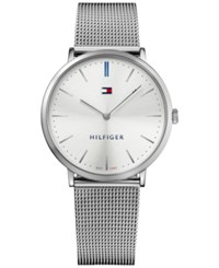 Tommy Hilfiger Men's Sophisticated Sport Stainless Steel Mesh Bracelet Watch 40Mm 1781690 Silver