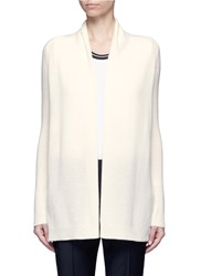 Theory 'Ashtry J' Open Front Cashmere Cardigan White