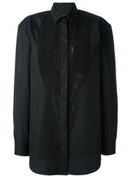 Maison Martin Margiela Maison Margiela Sheer Bib Panel Blouse Black