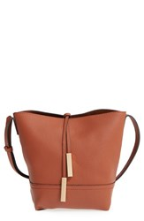 Street Level Faux Leather Bucket Bag Brown Cognac