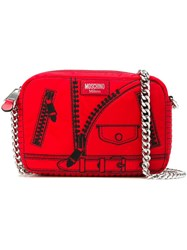 Moschino Trompe L'oeil Shoulder Bag Red