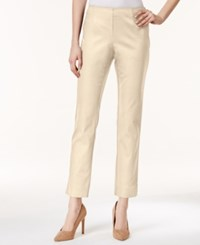 Charter Club Petite Tummy Control Ankle Pants Only At Macy's Sand