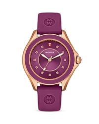 Michele Berry Cape Topaz Studded Watch 40Mm Gold