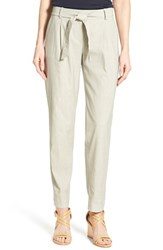 Women's Nordstrom Collection 'Orlando' Tie Belt Crop Pants