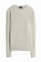 A.P.C. Ribbed Silk Pullover Grey