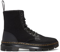 Dr. Martens Black Canvas Combs Boots