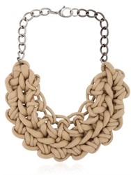 Alienina Knotted Cotton Rope Necklace
