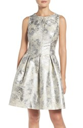 Vince Camuto Women's Metallic Fit And Flare Dress