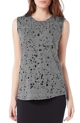 Michael Stars Women's Paint Splatter Print Tank Galvanized