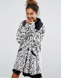 Lazy Oaf X Disney 101 Dalmatians Faux Fur Coat White