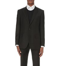 Gieves And Hawkes Regular Fit Twill Jacket Black