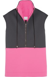 Atto Two Tone Scuba Jersey Top Pink