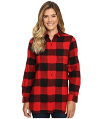 Woolrich Oxbow Bend Tunic Old Red Buffalo Women's Long Sleeve Button Up