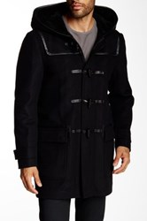 Mackage Finley Genuine Sheepskin And Leather Toggle Coat Black