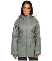 Columbia Catacomb Crest Parka Pond Women's Coat Green