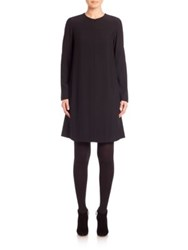 Akris Punto Pleated Back Zip Front Dress Black