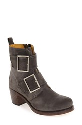 Frye Women's 'Sabrina' Double Buckle Boot Charcoal Oiled Suede